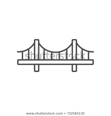 висячий мост воды икона вектора иллюстрация Сток-фото © pikepicture
