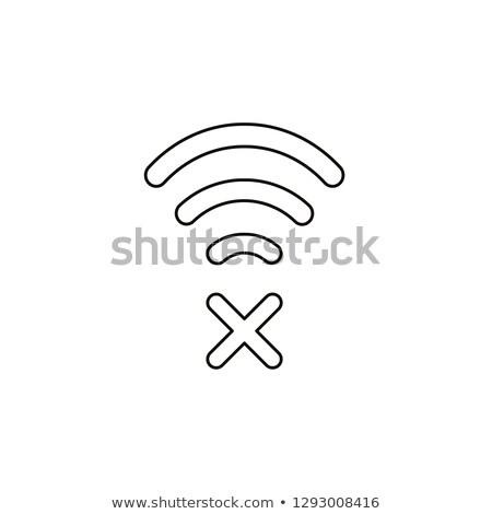 Wifi fout icon vector schets illustratie Stockfoto © pikepicture