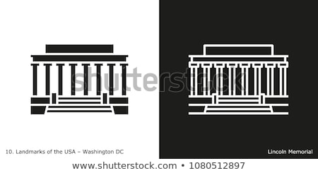 Outline Abraham Lincoln Memorial in Washington DC USA Stock photo © ShustrikS