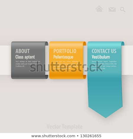 Grey ribbon with place for text Stock photo © ShustrikS