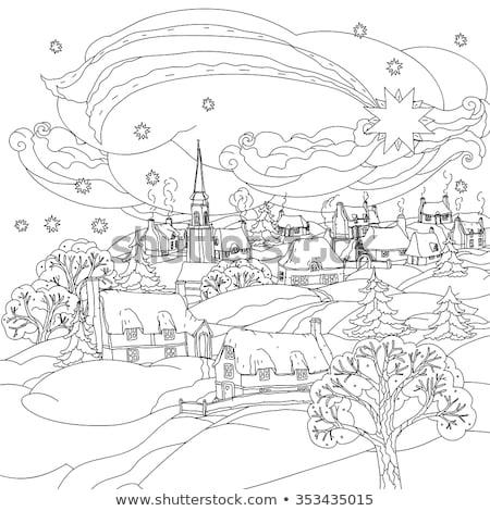 рисованной орнамент страница вектора взрослый Сток-фото © Natalia_1947
