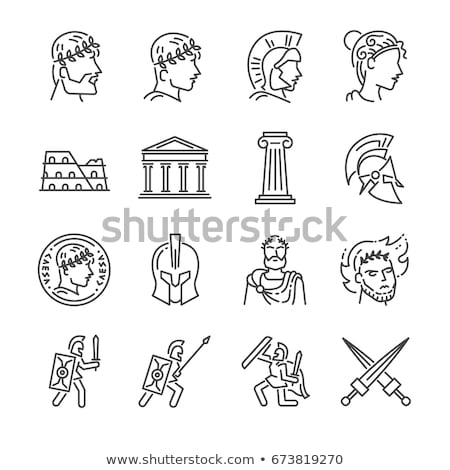 gladiator fights icon vector outline illustration Stock photo © pikepicture
