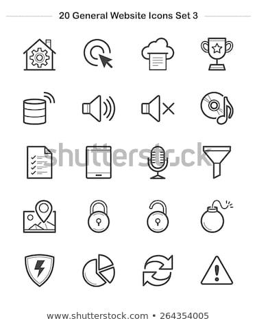 pie chart error icon vector outline illustration Stock photo © pikepicture