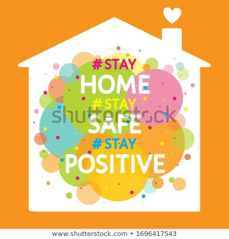 Tartózkodás otthon széf szalag szín szív Stock fotó © SArts