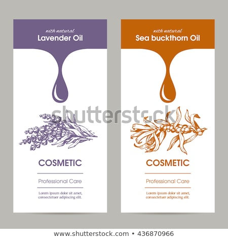 Organic Hair Care Cosmetics, Natural Oils Banners Stock photo © robuart