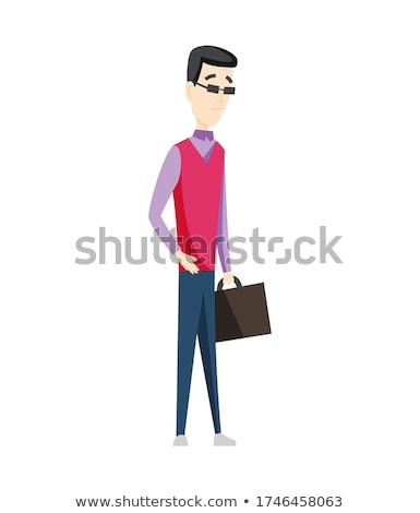 Man having stomachache symptoms of appendicitis with large, small intestine and appendix. Businessma Stock photo © designer_things