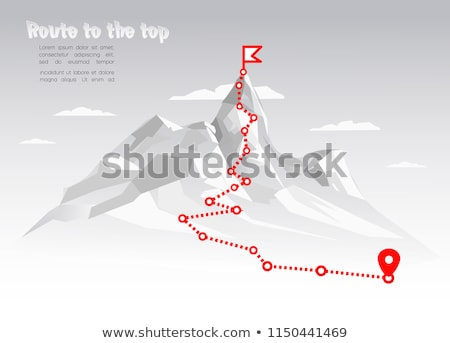 Traveler with map planning route to mountains Stock photo © jossdiim
