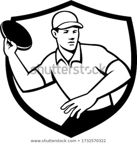 ディスク クレスト 黒白 マスコット ストックフォト © patrimonio