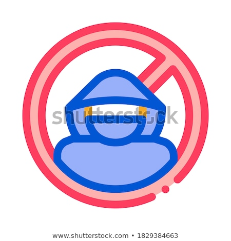 Criminal icono vector ilustración signo Foto stock © pikepicture