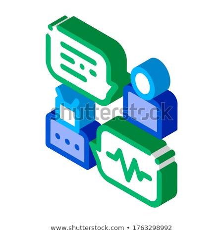 Connection Function Device Voice Control isometric icon vector illustration Stock photo © pikepicture
