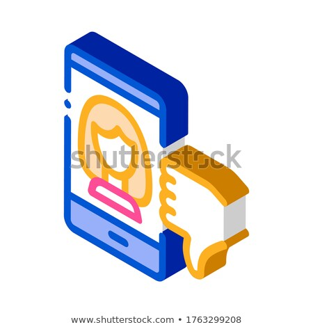 Dislike Avatar Female isometric icon vector illustration Stock photo © pikepicture