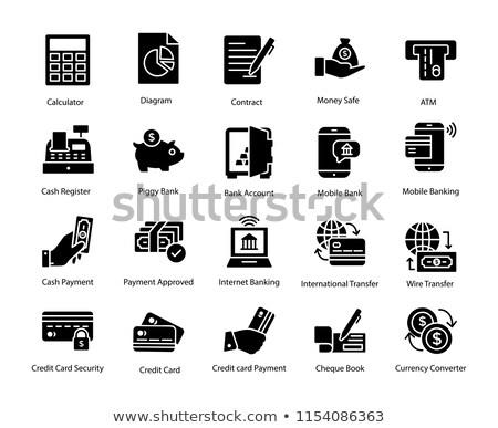 Bezahlung Verfahren Vektor Symbol isoliert weiß Stock foto © smoki