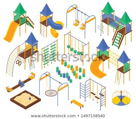 都市 演奏 遊び場 市 ベクトル 建物 ストックフォト © robuart