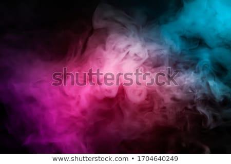 abstract colorful smoke waves on white stock photo © arsgera