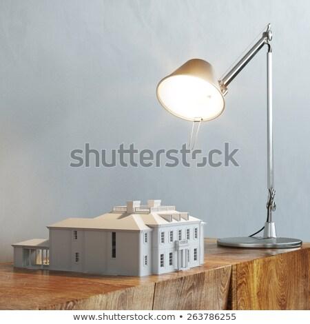 Interrupteur de lumière mur sépia blanche Photo stock © tarczas