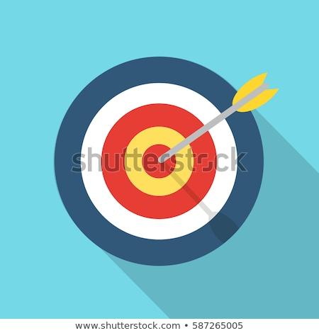 Bullseye in target Stock photo © mybaitshop