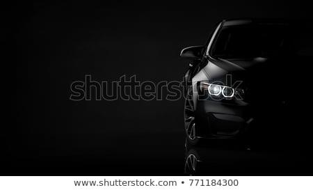 fekete · elegáns · autó · vörös · szőnyeg · villanás · éjszaka - stock fotó © cla78