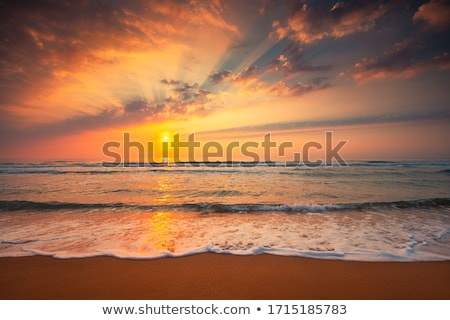 Foto stock: Panorâmico · tiro · céu · pôr · do · sol · luz · fundo
