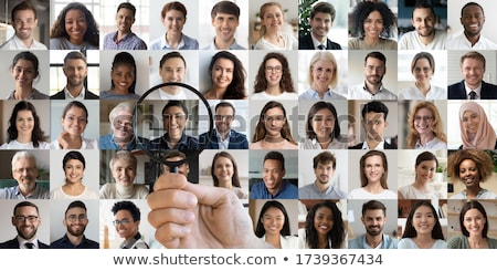 Business team with magnifiers collage Stock photo © Paha_L