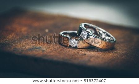 two vintage pearl rings Stock photo © lubavnel