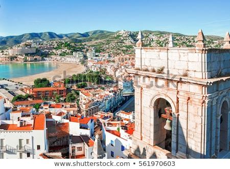 Pope Luna's Castle in Peniscola, Valencia Stock photo © aladin66