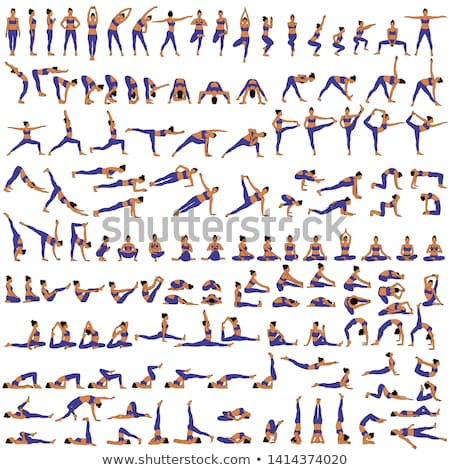 Set of yoga poses Stock photo © Lynx_aqua
