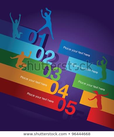 Névjegyek második szett tizenkettő dizájnok üzlet Stock fotó © Mcklog