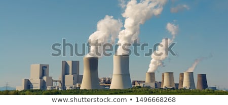 Coal-fired power plant, climate change Stock photo © Arrxxx
