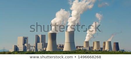 石炭 · 発電所 · 建物 · 技術 · 煙 · 青 - ストックフォト © arrxxx