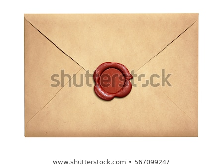 yellow letter paper and red envelope Stock photo © devon