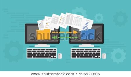 laptop · móvel · efeitos · gradiente - foto stock © pkdinkar