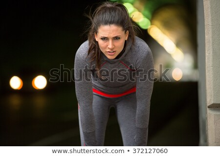 woman resting after cardio exercise Stock photo © photography33