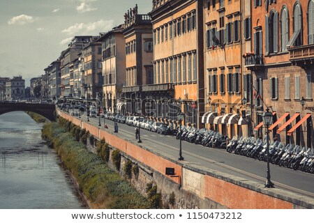 Floransa · köprü · 10 · su · Bina · seyahat - stok fotoğraf © lianem