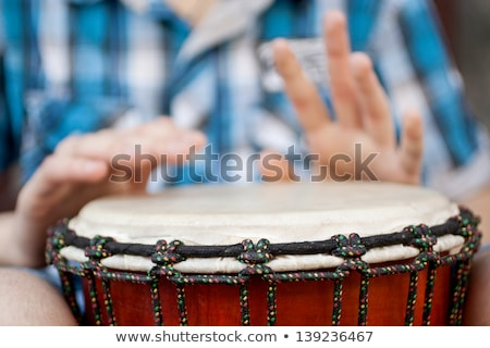 young man playing traditional drums Stock photo © photography33