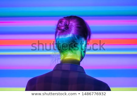 experience highlighted in blue stock photo © ivelin