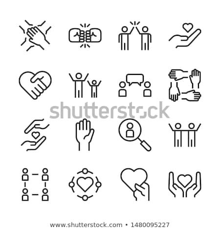 haver · ikon · körül · világ · iroda · arc - stock fotó © gladiolus