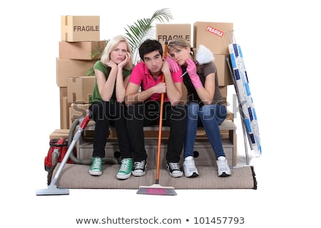 Unhappy housemates cleaning their flat before moving out Stock photo © photography33