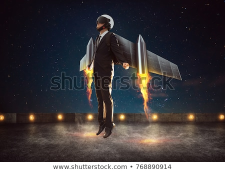 Winged businessman Stock photo © carbouval