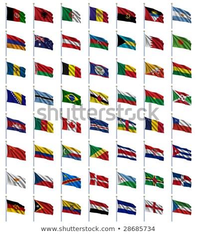 świat · flagi · zestaw · alfabetyczny · celu · Wyspy · Salomona - zdjęcia stock © creisinger