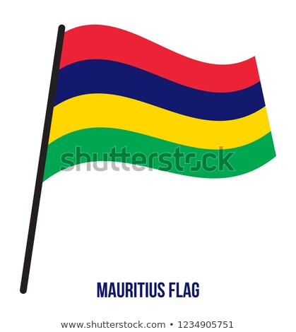 Político bandera Mauricio mundo país Foto stock © perysty