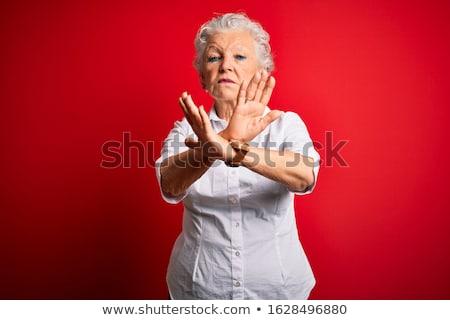 női · jelölt · gesztikulál · hüvelykujjak · lefelé · portré - stock fotó © photography33