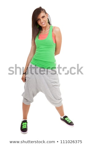 smiling urban young woman dancer with a nice hairdo Stock photo © feedough