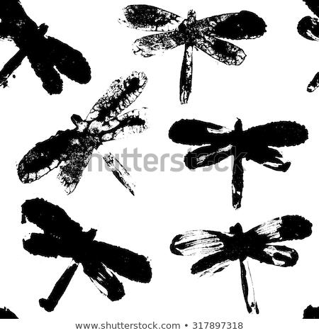 libélula · floresta · textura · olho · natureza · beleza - foto stock © perysty
