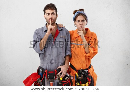 Female construction worker saying stop stock photo © broker