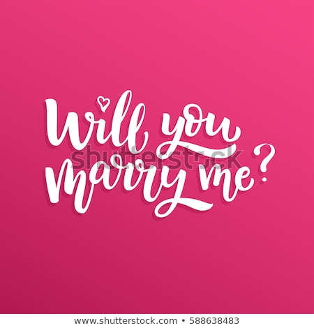 Will you marry me? Stock photo © stockyimages