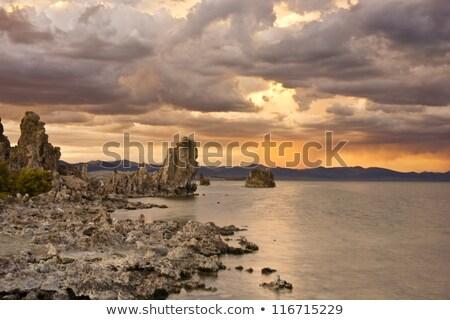tó · magas · só · tartalom · égbolt · nap - stock fotó © emattil