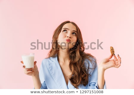 Beautiful woman with cup Stock photo © stokkete