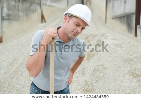 Tradesman suffering from a work injury Stock photo © photography33
