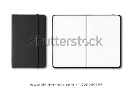 spirál · vonal · notebook · könyv · fekete · gyűrű - stock fotó © witthaya