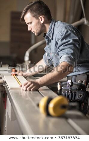 Photo stock: Homme · bois · bâton · sexy